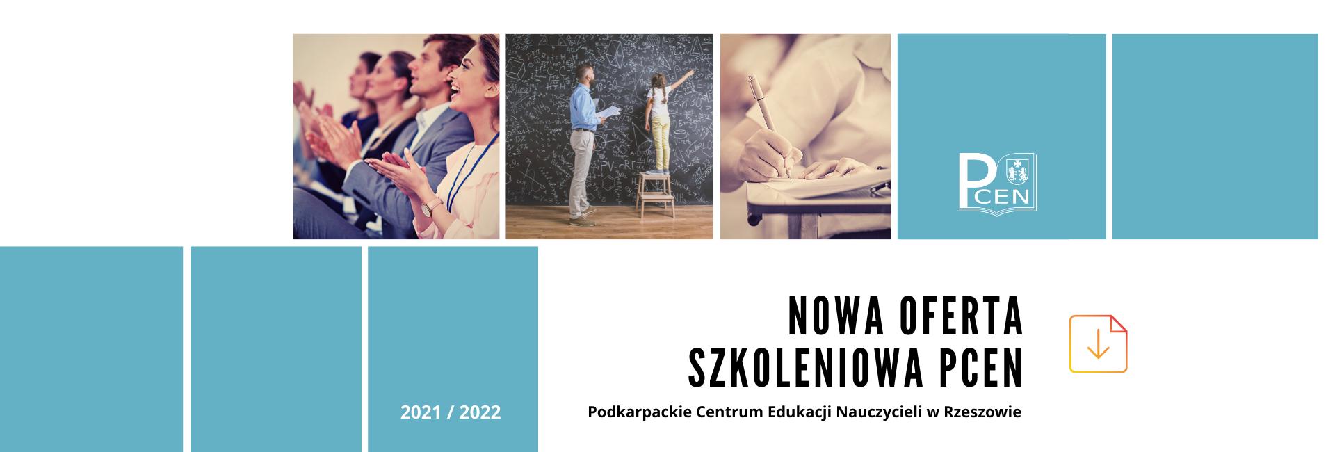 Baner oferta szkoleniowa PCEN na rok 2021/2022